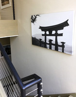 Shrine on canvas in stairway